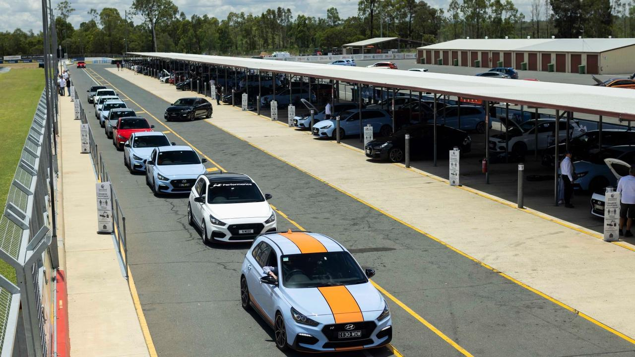 Matt Whitlock's i30 N leads the N Festival line-up at Queensland Raceway.