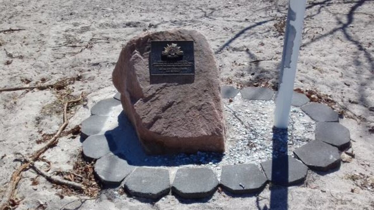 A recommendation will be brought before the council on Wednesday to refuse a new Anzac Memorial at Hydeaway Bay due to its proximity to the Dingo Beach Anzac Memorial (pictured). Photo: Whitsunday Regional Council