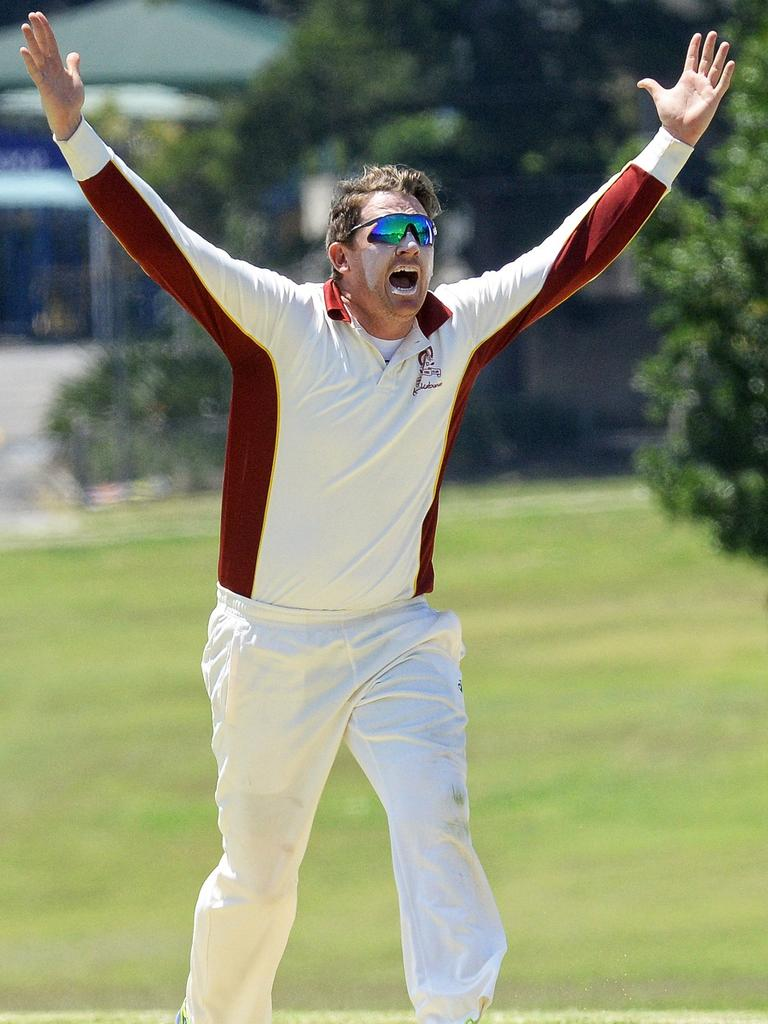 Former Centrals all-rounder Ben O'Connell appeals for a wicket. Picture: Rob Williams