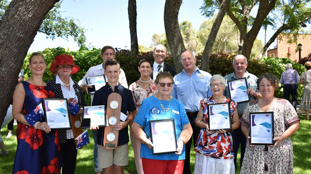 Lockyer Valley Australia Day Awards Recipients. Photo: Hugh Suffell.