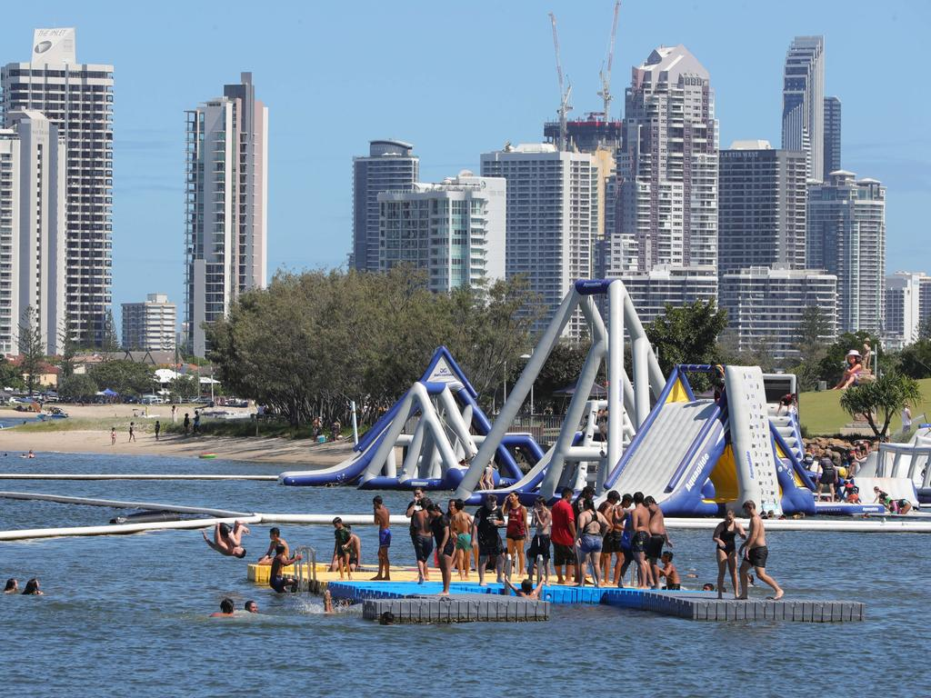 Crowds enjoy Broadwater Parklands on the Gold Coast on Australia Day.. Picture Glenn Hampson