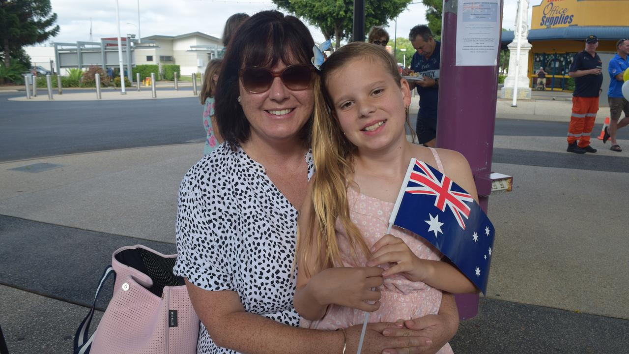 Kristy and Juliette Pethers at Emerald's Australia Day Awards and citizenship ceremony at Emerald Town Hall.