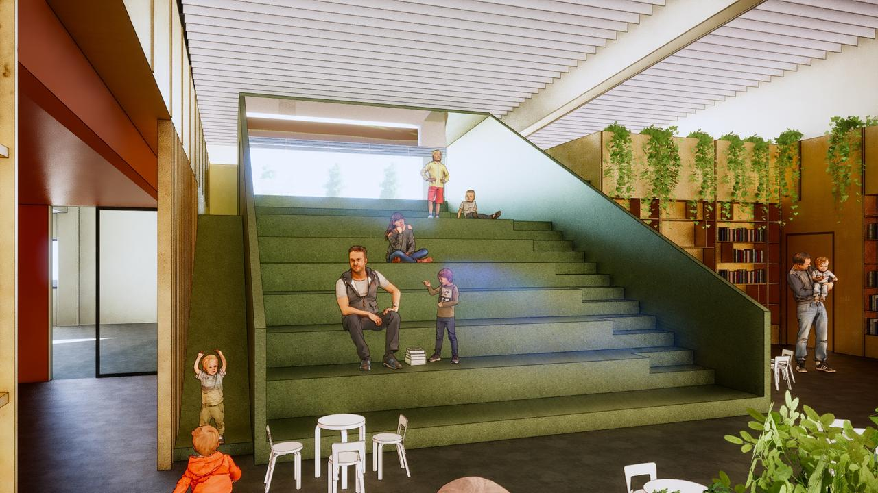 Designs for the proposed redevelopment of MyALL107 along Drayton St. Picture: WDRC
