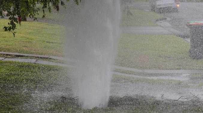 Vandalism behind water leak at Queens Park