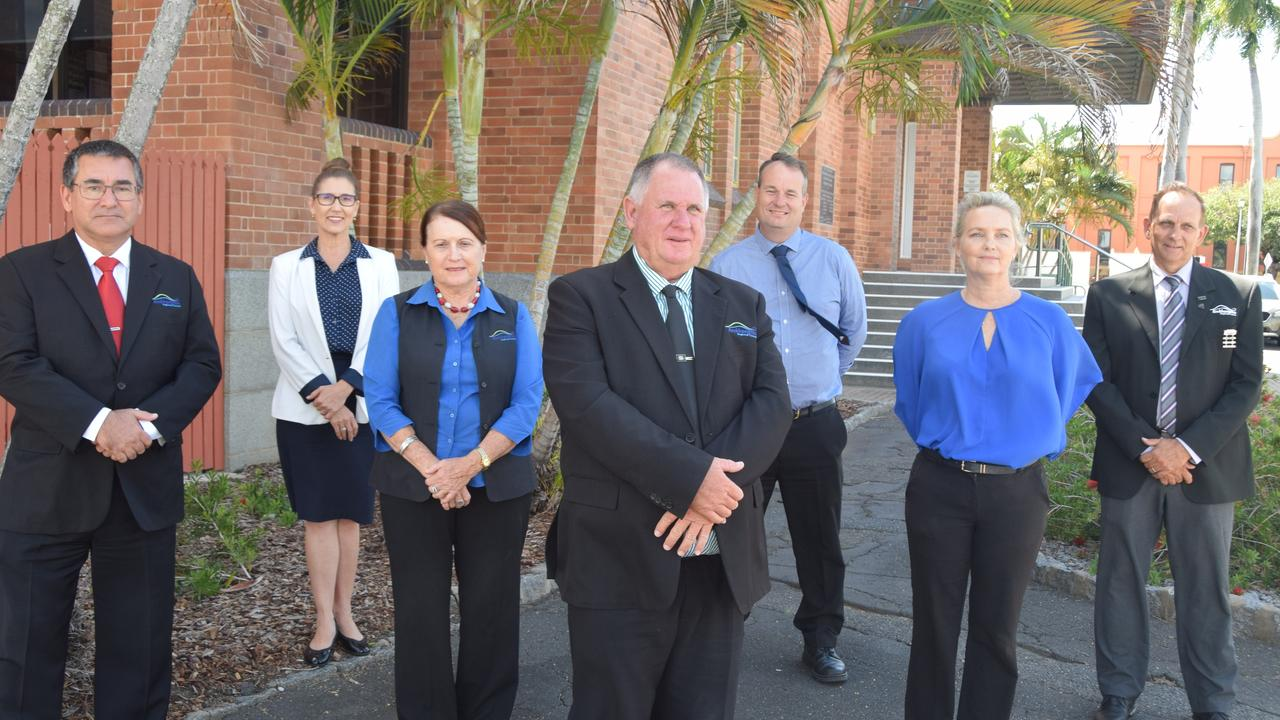 Rockhampton Regional Council members Councillor Donna Kirkland, Shane Latcham, Tony Williams Drew Wickerson, Ellen Smith, Cherie Rutherford and Acting Mayor Neil Fisher.