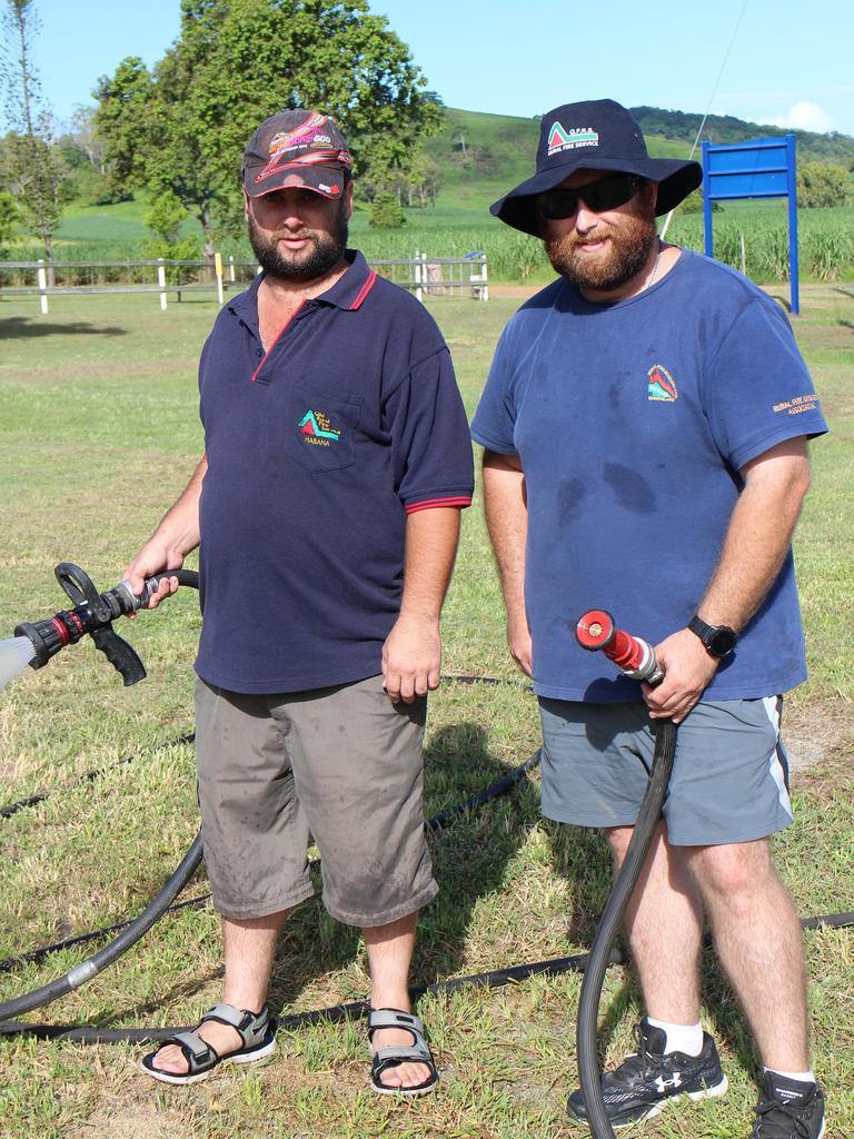 HABANA AUS DAY: Brendan Attard and Peter Attard from the Habana Rural Fire Brigade. Picture: Danielle Jesser