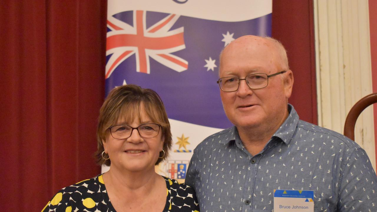 Alison and Bruce Johnson at the Warwick Australia Day citizenship ceremony.