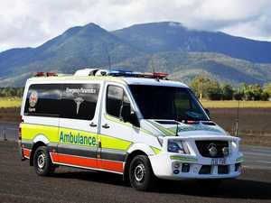Man in hospital after car rolls on highway