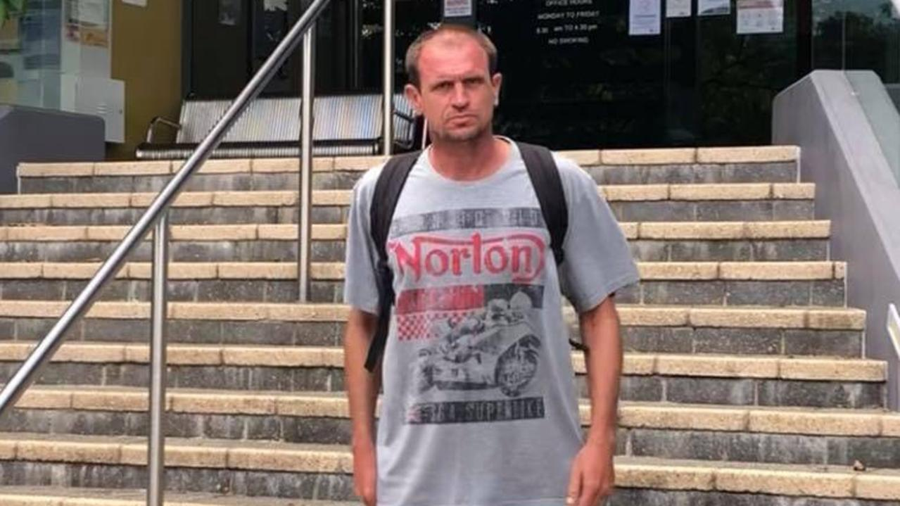 Andrew Stanley Roderick Mackie leaves Caloundra Magistrates Court after being sentenced for exposing himself to police. Picture: Laura Pettigrew