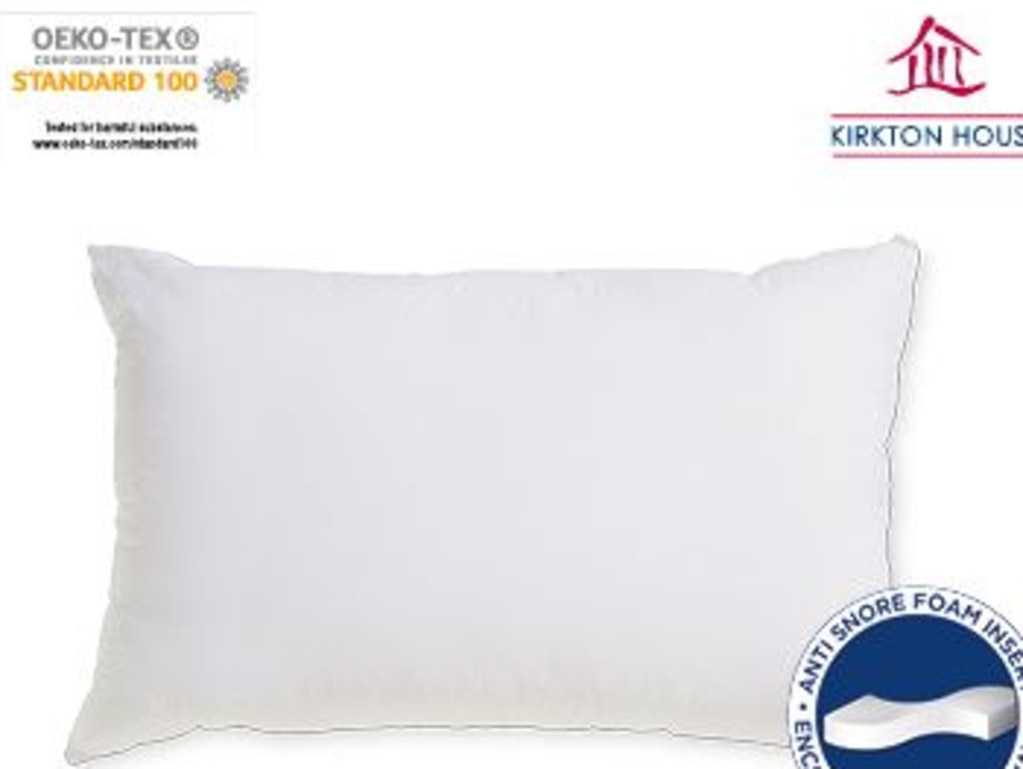 Aldi's $20 'Anti-Snore Pillow' hits shelves on January 27 as part of its Special Buys. Picture: Aldi