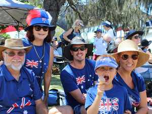 Locals celebrate Australia Day at Neilson Park