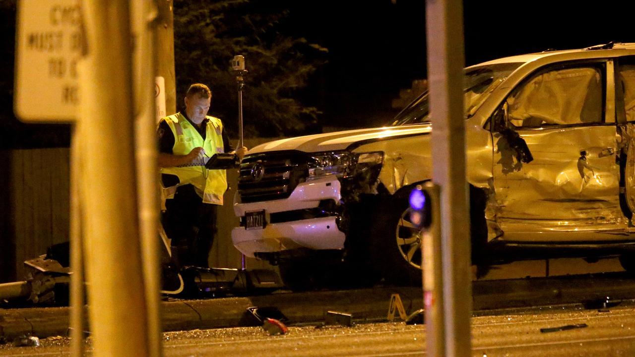 Police allege the driver fled from the scene after the crash. Photo Steve Pohlner