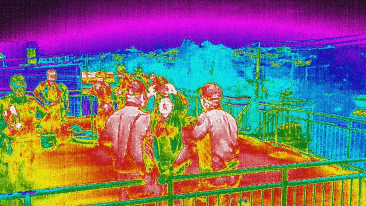 An image supplied from one of the drones shows the thermal imaging technology now available. Picture: NCA NewsWire/Supplied FRV