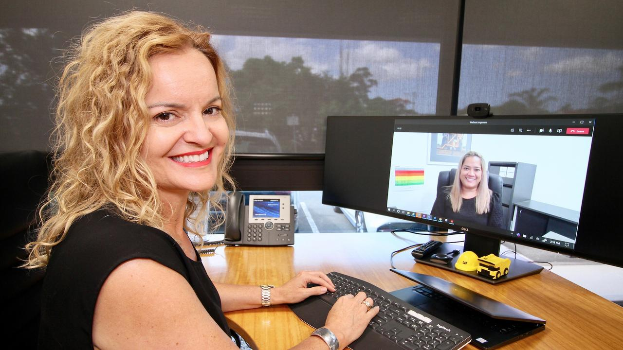 Hastings Deering engineering and customer support executive manager Jo Best shares her skills and knowledge with Mackay-based continuous improvement project manager Melissa Jorgensen. Picture: Contributed