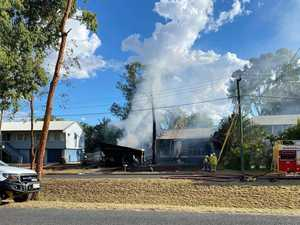 CQ home 'well alight' as multiple fire crews called to help