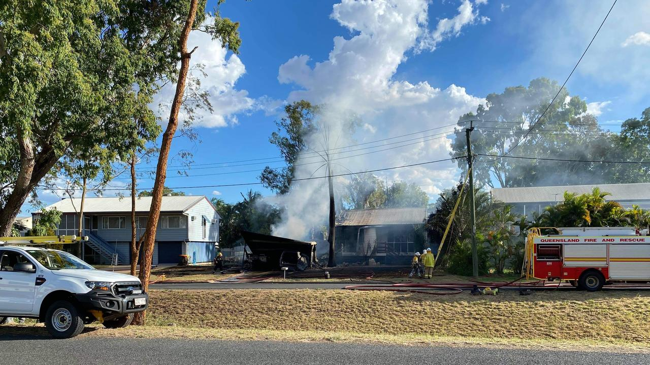 Fire destroyed an Emerald home on Thursday afternoon.