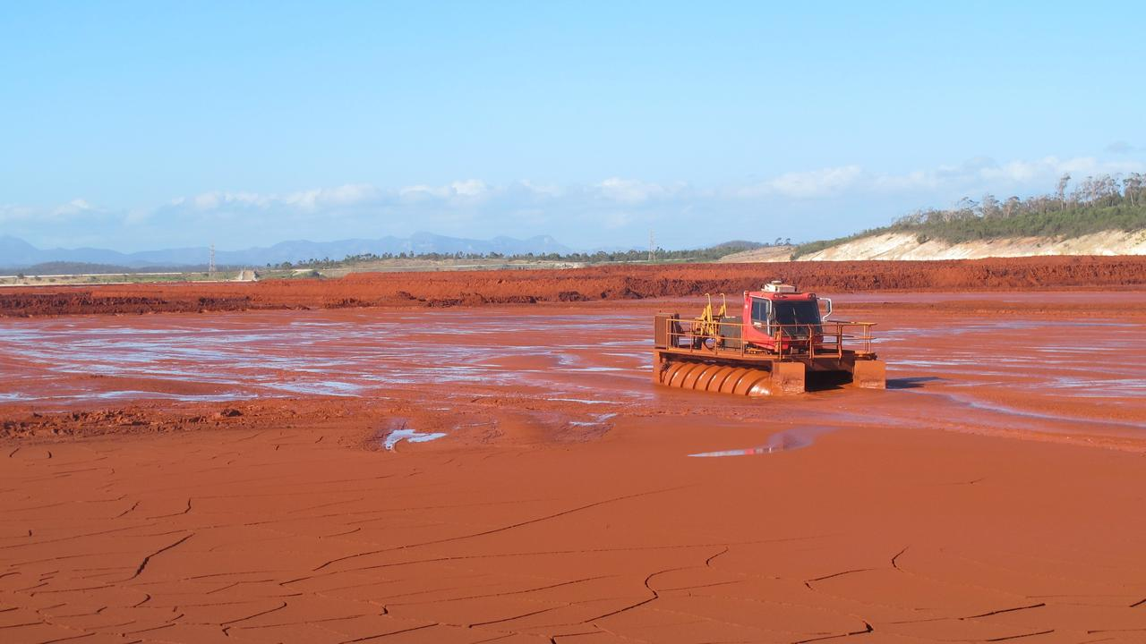 Queensland Alumina Limited's red mud dam facility.