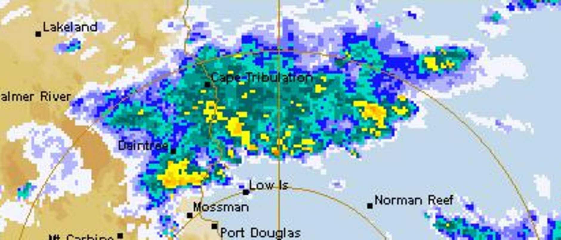 Cairns radar on Thursday afternoon. Source: BOM