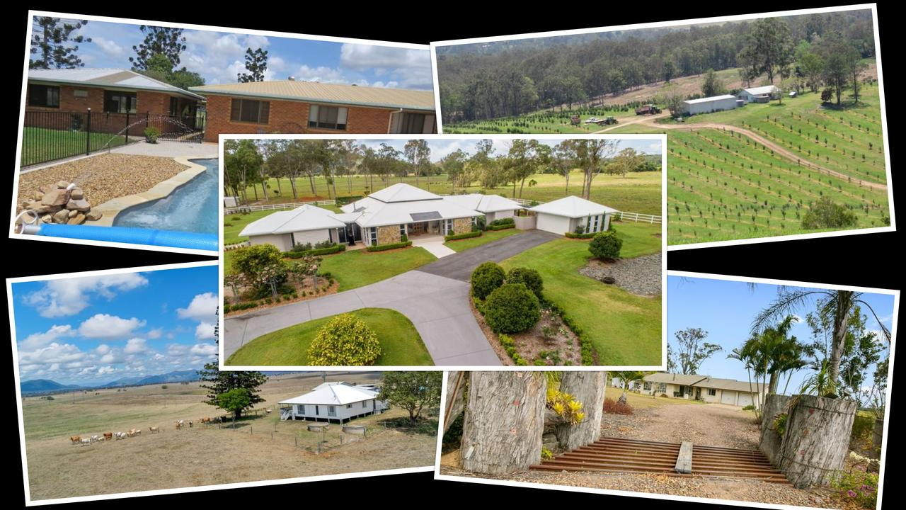 Rural properties are all the rage in the Gympie regon with the five priciest on the market for between $2.5 million and $4.2 million.
