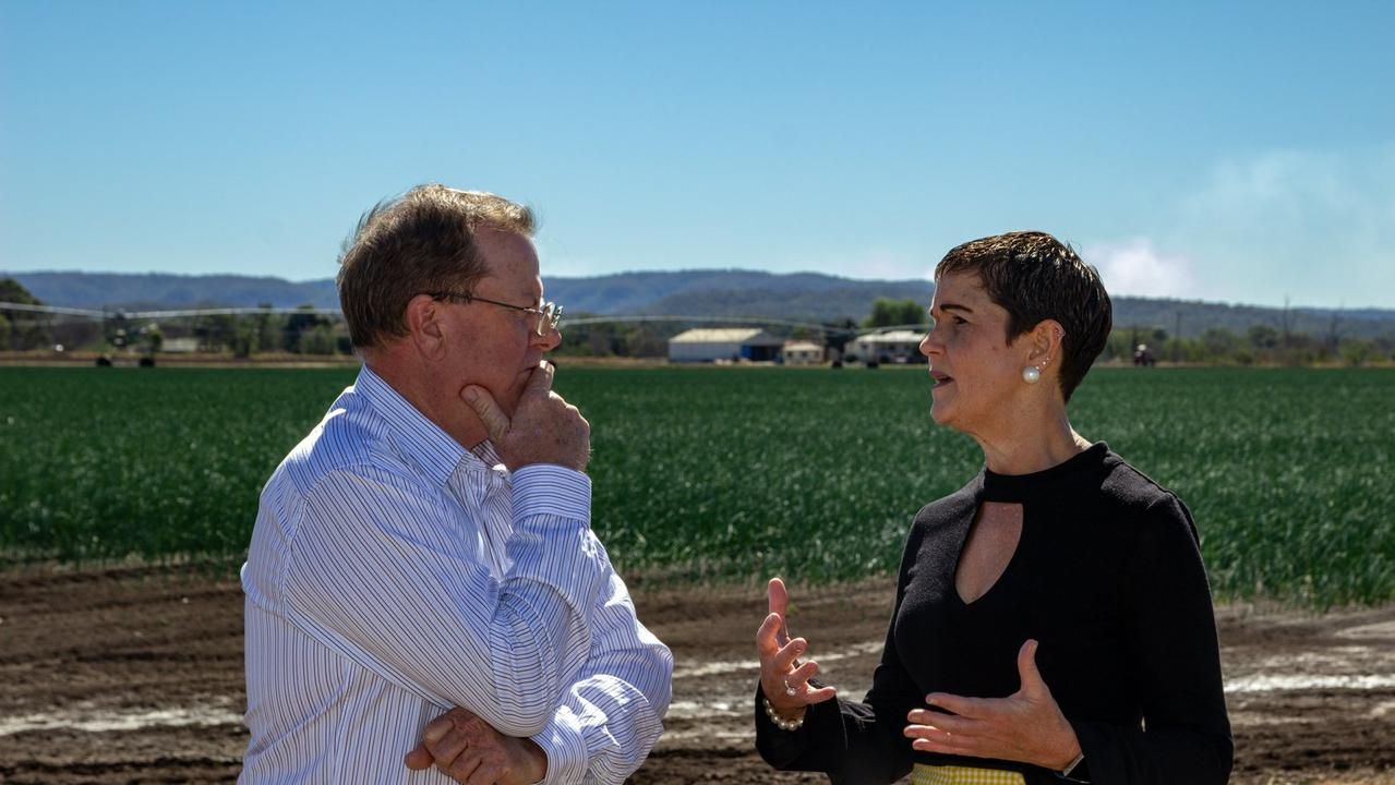 Lockyer Valley and Somerset Water Collaborative Chair Stephen Robertson and Lockyer Valley Regional Council Mayor Tanya Milligan discuss the $1.4 million funding boost for a business case to ensure water security in the region.