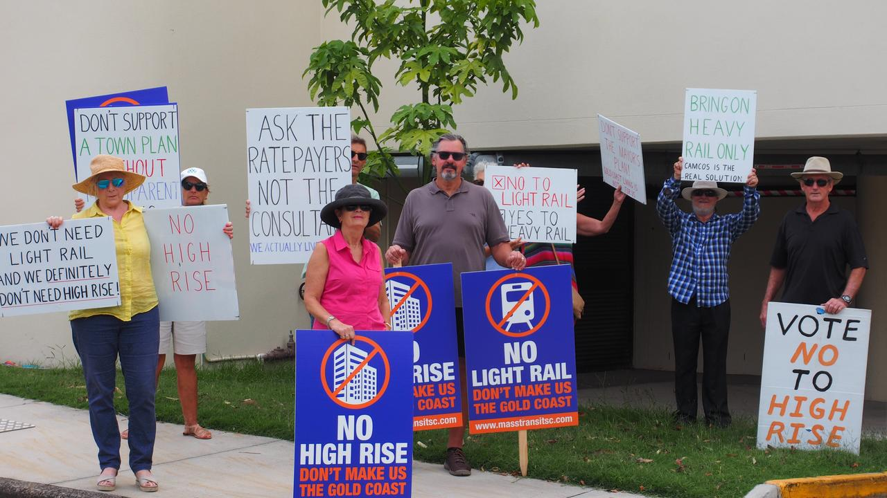 Mass Transit Action Group members took their fight to the steps of council on Thursday.