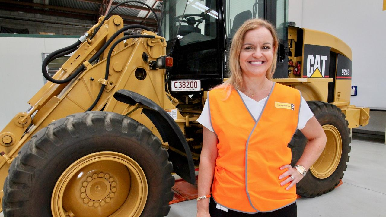 Jo Best was presented with her award as Exceptional Woman in Queensland Resources.