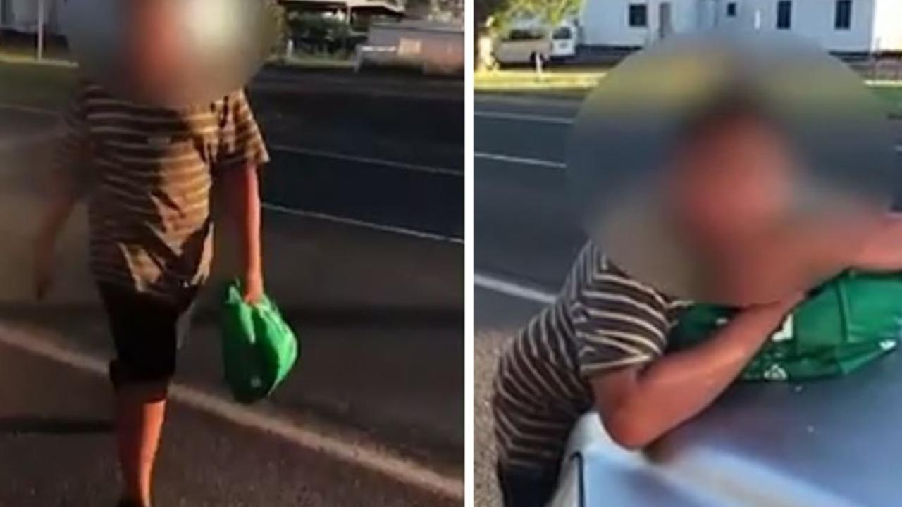 SHOCKING VIDEO: Business owner allegedly attacked by child. Pic: Supplied