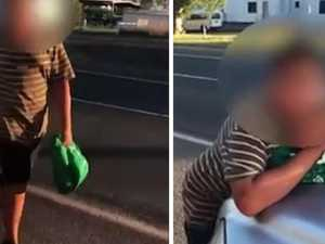 VIDEO: Child armed with blade attacks Chinchilla businessman