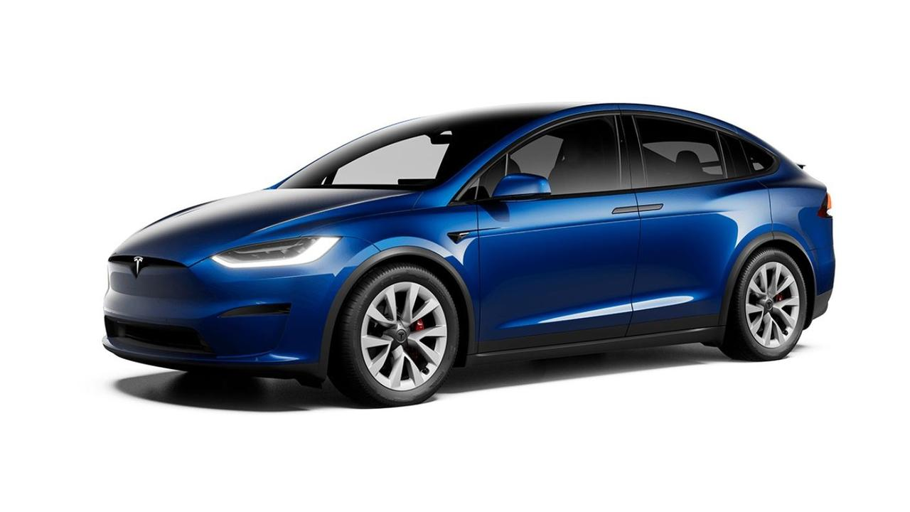 The subtly-facelifted Tesla Model X benefits from similar changes to the sedan.