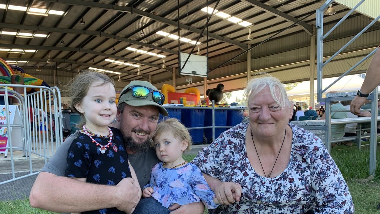 Gympie Australia Day celebrations Mia, Jacob and Hailey Guffogg and Kachine Maan