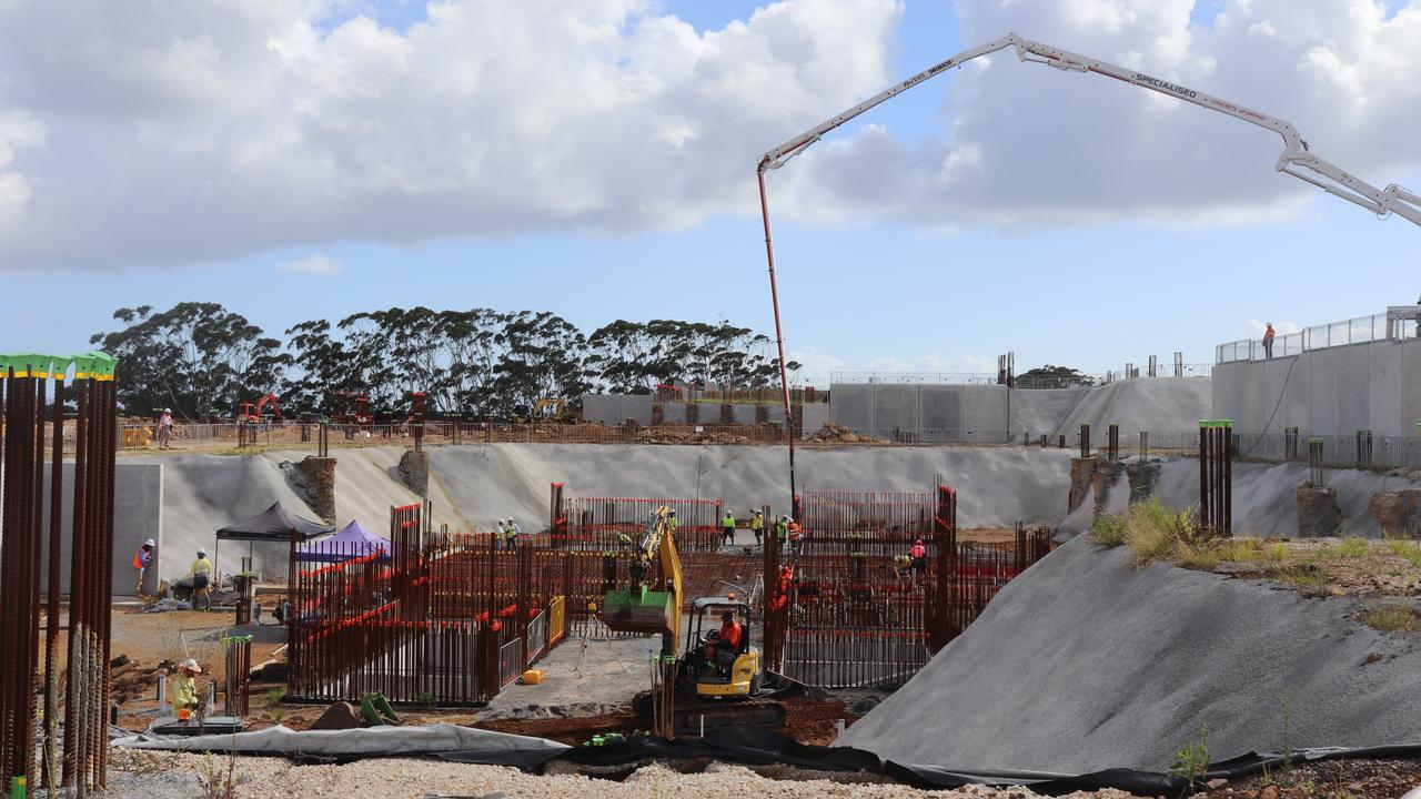 Work on the new Tweed Valley Hospital is progressing well.