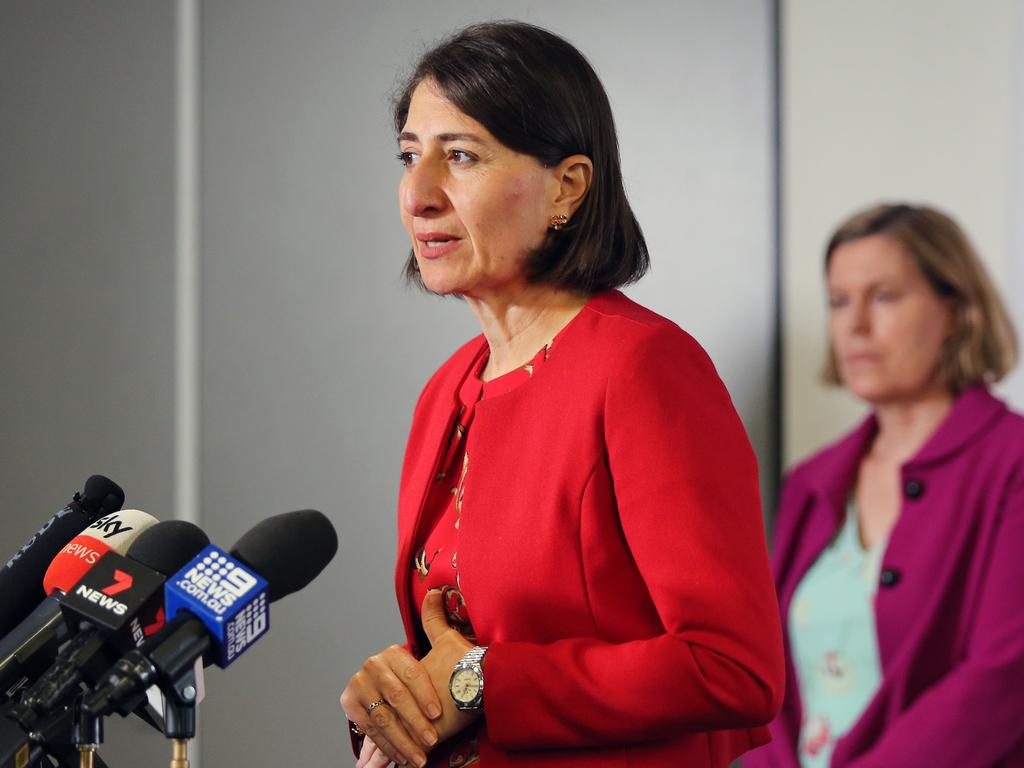 NSW Premier Gladys Berejiklian repeatedly asked Queensland to open the border to NSW. Picture: Richard Dobson