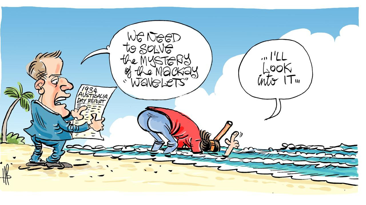 Harry Bruce's take on the wavelets mystery. Today's Harry Bruce cartoon has been brought to you by Dawson MP George Christensen. George is a proud supporter of free speech and the ability of our cartoonists to take the mickey out of the political class.