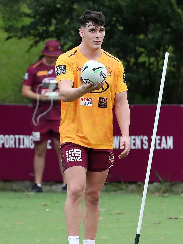 Herbie Farnworth, Brisbane Broncos training, Red Hill. Picture: Liam Kidston
