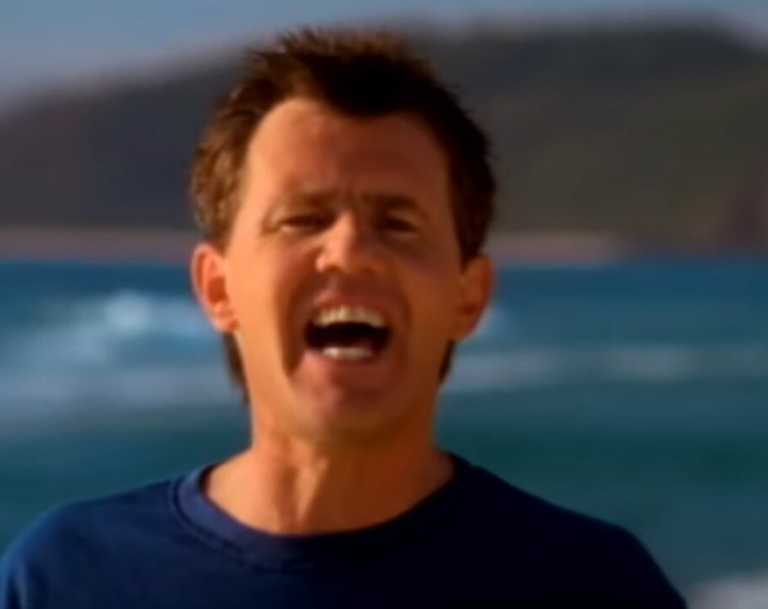Screen grabs from Daryl Braithwaite's music video for The Horses.