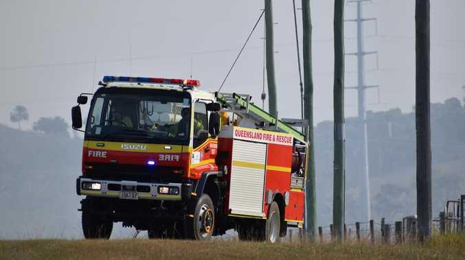 Burning car on highway cuts road to Brisbane
