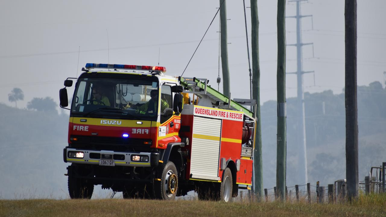 Queensland Fire and Emergency Services have responded to a vehicle fire on the Cunningham Highway.