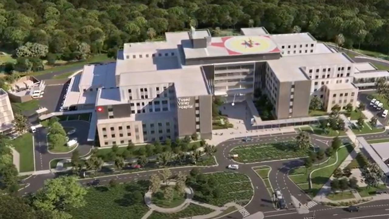 Stills from the new fly-through animation of the Tweed Valley Hospital.