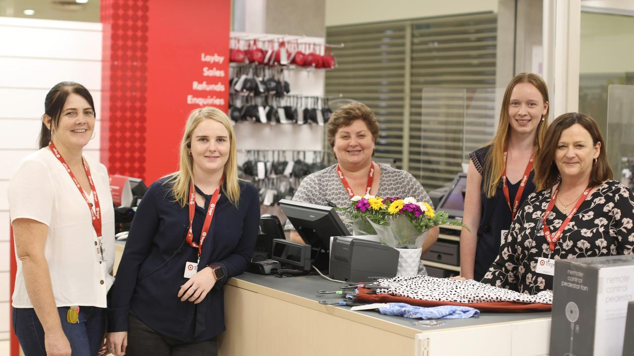 Target Country Murwillumbah staff Maree Higgins, Lucy Booth, Kim Fuller, Alyssa Stavar and manager Tracy Marsden. The store will be open for business for the final time on Saturday, January 30. Picture: Liana Boss