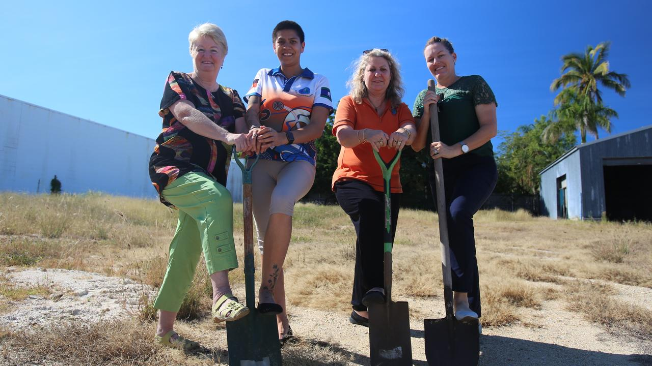Bowen Neighbourhood chair Chris Coventry, Crystal Maako, Deanna Tinirau and Natasha Leaver are ready to get shovel down on the site of the new centre in 2019. Picture: Jordan Gilliland