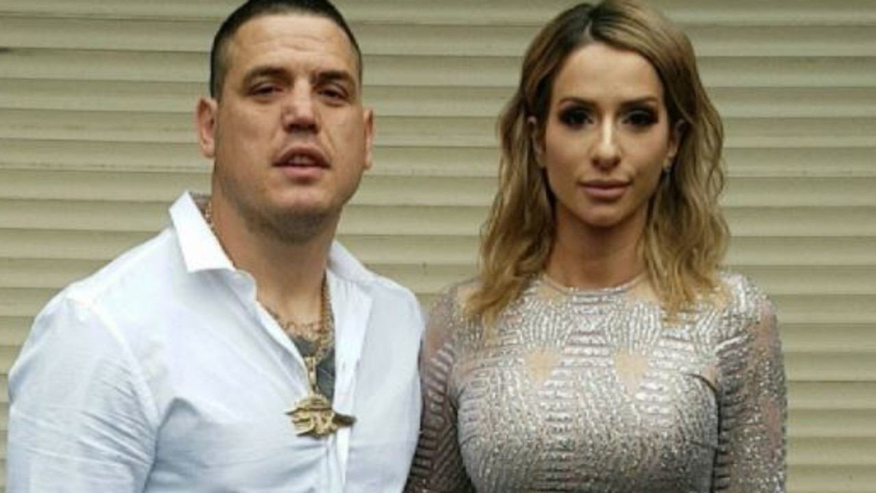 A Rebels bikie and former partner of a Married At First Sight star has faced court for meeting with criminal organisation participants at a pub.