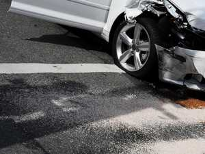 Woman injured after truck and car smash