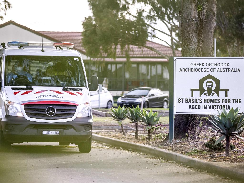 St Basil's was linked toCOVID-19 outbreaks and deaths at the height of Melbourne's lockdown. Picture: NCA NewsWire / Sarah Matray