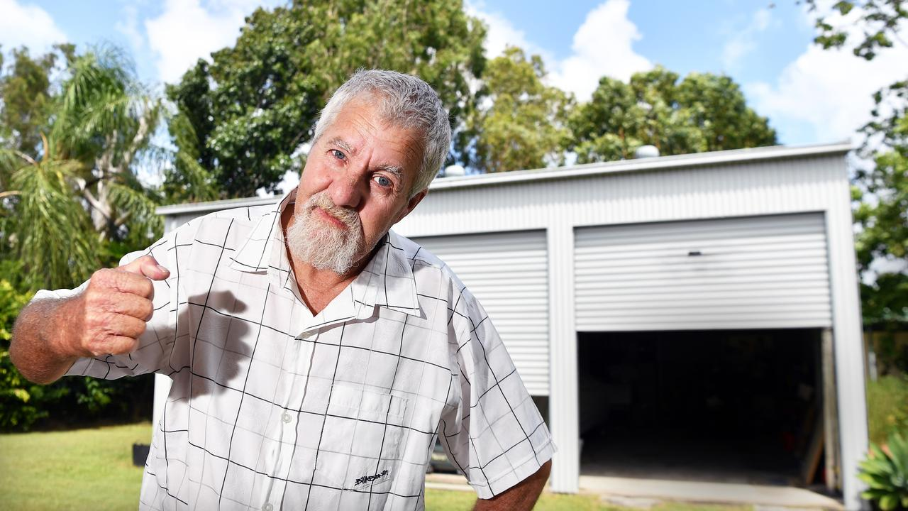 Thieves allegedly stole a car from the garage of Rick Eastin. Picture: Patrick Woods.