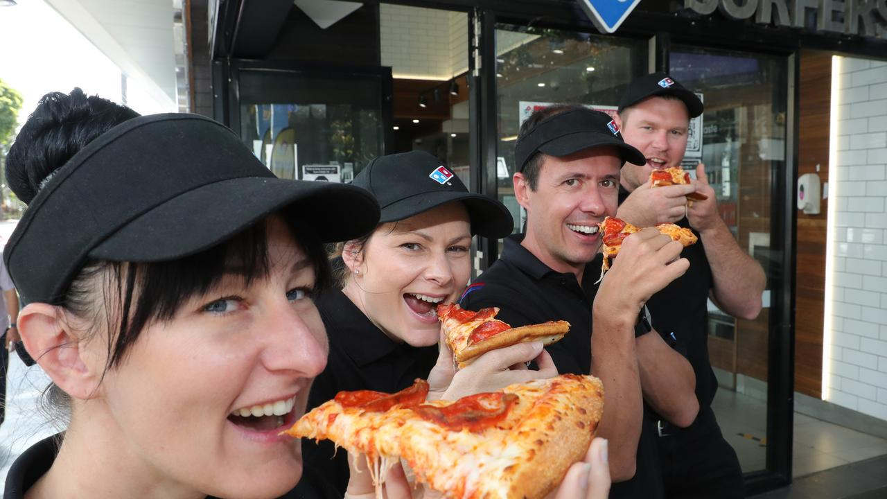 Domino's franchises were eligible for JobKeeper during the height of the pandemic. Picture Glenn Hampson