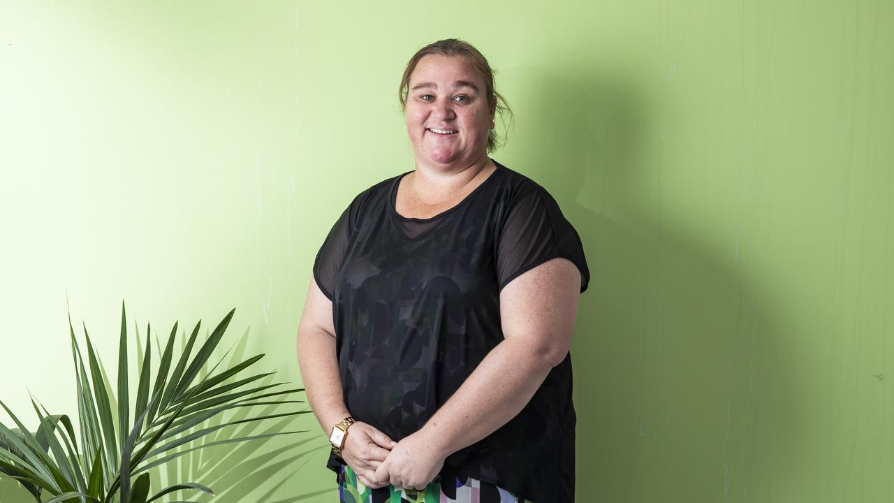 Centrecare case manager Stevie Conroy works with people living with hoarding disorder, helping them declutter their home and address underlying issues. Picture: Mark Cranitch
