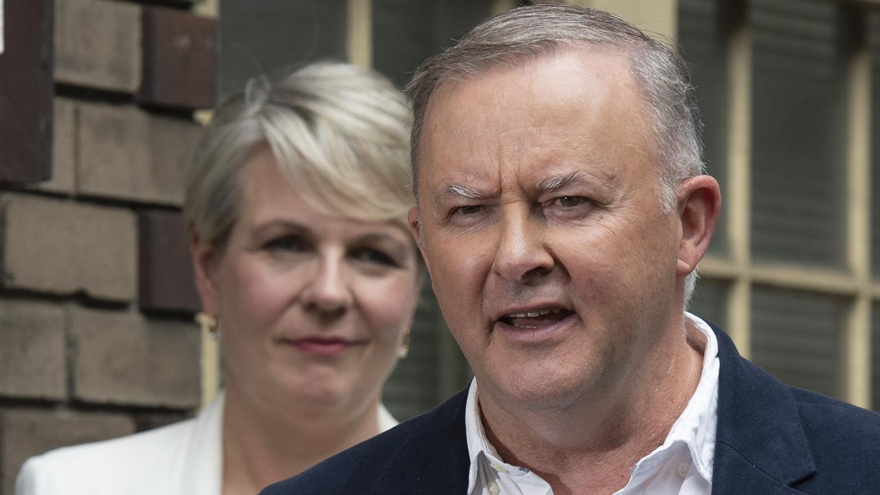 Anthony Albanese has moved the training portfolio from Tanya Plibersek and given added responsibility to his deputy Richard Marles. Picture: NCA NewsWire/ Monique Harmer