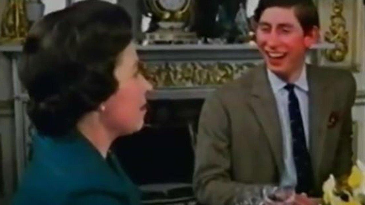 In scenes from the television, the family are seen sharing stories and laughing around the table. Picture: YouTube