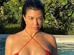 Kourtney's very tiny 'upside down' bikini