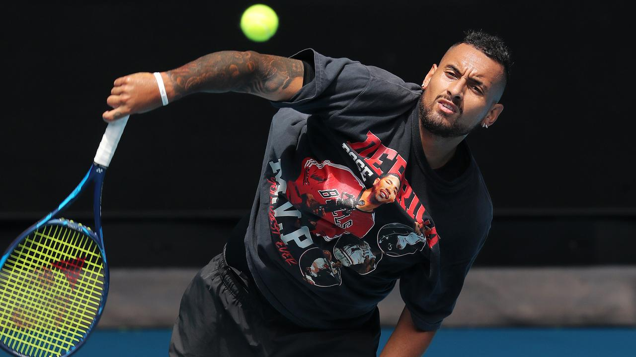 Nick Kyrgios says he didn't miss tennis during the lockdown. Picture: Michael Klein